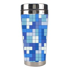 Tetris Camouflage Marine Stainless Steel Travel Tumblers by jumpercat