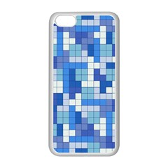 Tetris Camouflage Marine Apple Iphone 5c Seamless Case (white)