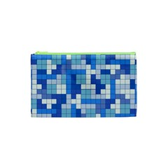 Tetris Camouflage Marine Cosmetic Bag (xs) by jumpercat