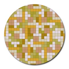 Tetris Camouflage Desert Round Mousepads by jumpercat