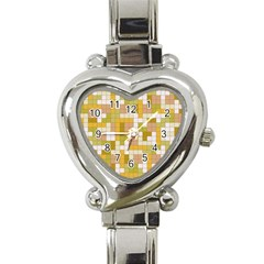 Tetris Camouflage Desert Heart Italian Charm Watch by jumpercat
