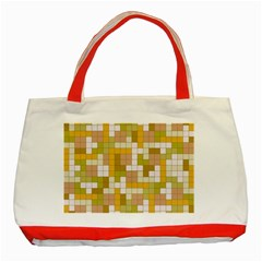 Tetris Camouflage Desert Classic Tote Bag (red) by jumpercat