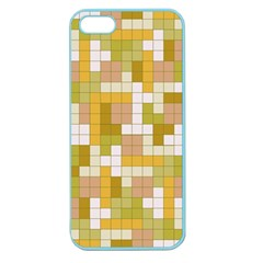 Tetris Camouflage Desert Apple Seamless Iphone 5 Case (color)