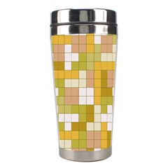 Tetris Camouflage Desert Stainless Steel Travel Tumblers by jumpercat