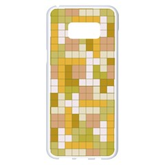 Tetris Camouflage Desert Samsung Galaxy S8 Plus White Seamless Case by jumpercat