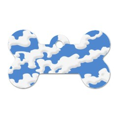 Cloud Lines Dog Tag Bone (one Side)