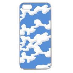 Cloud Lines Apple Seamless Iphone 5 Case (clear) by jumpercat