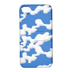 Cloud Lines Apple Iphone 4/4s Hardshell Case With Stand