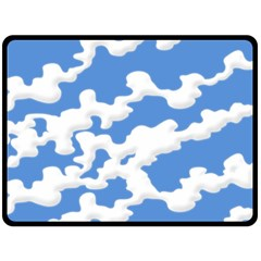 Cloud Lines Double Sided Fleece Blanket (large)  by jumpercat