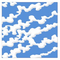 Cloud Lines Large Satin Scarf (square)