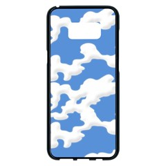 Cloud Lines Samsung Galaxy S8 Plus Black Seamless Case by jumpercat