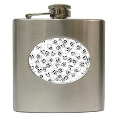 A Lot Of Skulls White Hip Flask (6 Oz) by jumpercat
