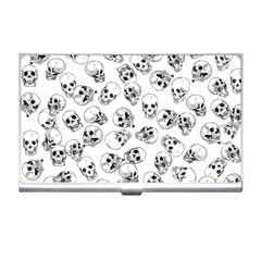 A Lot Of Skulls White Business Card Holders by jumpercat