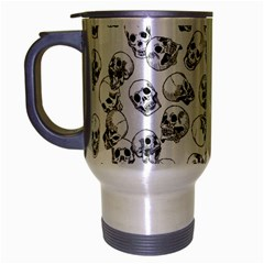 A Lot Of Skulls White Travel Mug (silver Gray) by jumpercat