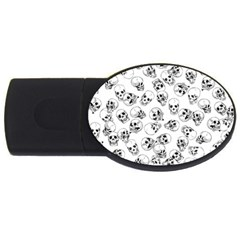 A Lot Of Skulls White Usb Flash Drive Oval (4 Gb) by jumpercat
