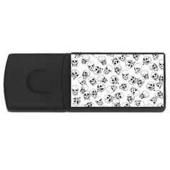 A Lot Of Skulls White Rectangular Usb Flash Drive by jumpercat