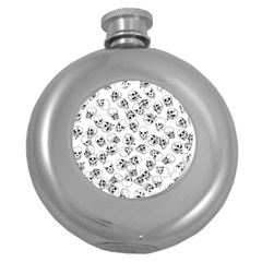 A Lot Of Skulls White Round Hip Flask (5 Oz) by jumpercat