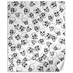 A Lot Of Skulls White Canvas 16  X 20   by jumpercat