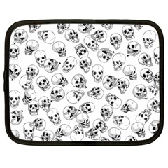 A Lot Of Skulls White Netbook Case (large) by jumpercat