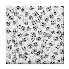 A Lot Of Skulls White Face Towel