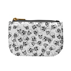 A Lot Of Skulls White Mini Coin Purses