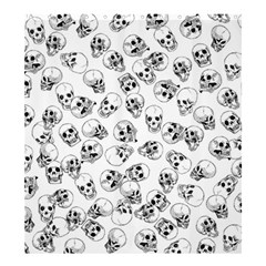 A Lot Of Skulls White Shower Curtain 66  X 72  (large)  by jumpercat