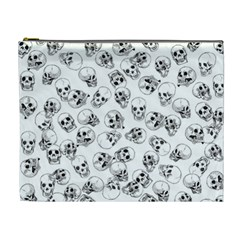 A Lot Of Skulls White Cosmetic Bag (xl) by jumpercat