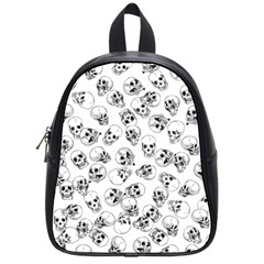 A Lot Of Skulls White School Bag (small) by jumpercat