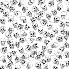 A Lot Of Skulls White Magic Photo Cubes by jumpercat