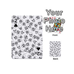 A Lot Of Skulls White Playing Cards 54 (mini)  by jumpercat