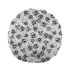 A Lot Of Skulls White Standard 15  Premium Round Cushions by jumpercat