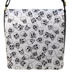 A Lot Of Skulls White Flap Messenger Bag (s) by jumpercat