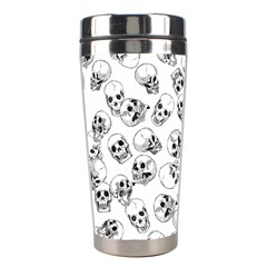 A Lot Of Skulls White Stainless Steel Travel Tumblers by jumpercat