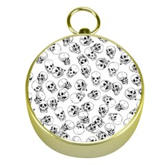 A Lot Of Skulls White Gold Compasses by jumpercat