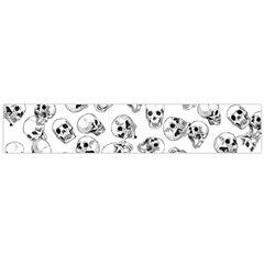 A Lot Of Skulls White Large Flano Scarf  by jumpercat
