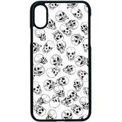 A Lot Of Skulls White Apple Iphone X Seamless Case (black) by jumpercat