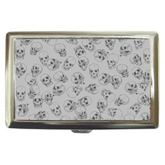 A Lot Of Skulls Grey Cigarette Money Cases by jumpercat