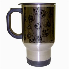 A Lot Of Skulls Grey Travel Mug (silver Gray) by jumpercat