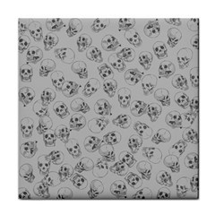 A Lot Of Skulls Grey Face Towel
