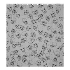 A Lot Of Skulls Grey Shower Curtain 66  X 72  (large)  by jumpercat