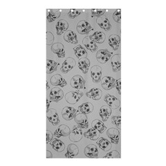 A Lot Of Skulls Grey Shower Curtain 36  X 72  (stall)  by jumpercat