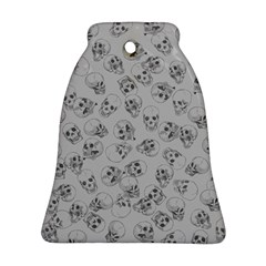 A Lot Of Skulls Grey Bell Ornament (two Sides) by jumpercat