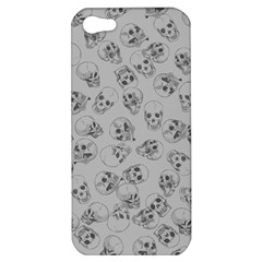 A Lot Of Skulls Grey Apple Iphone 5 Hardshell Case by jumpercat