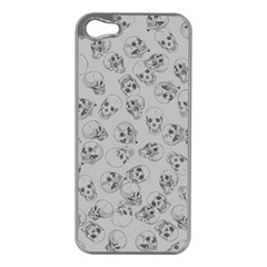 A Lot Of Skulls Grey Apple Iphone 5 Case (silver)