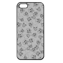 A Lot Of Skulls Grey Apple Iphone 5 Seamless Case (black) by jumpercat
