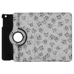 A Lot Of Skulls Grey Apple Ipad Mini Flip 360 Case by jumpercat
