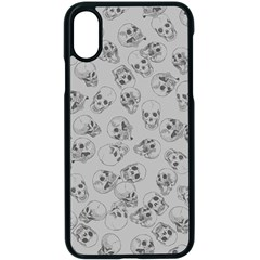 A Lot Of Skulls Grey Apple Iphone X Seamless Case (black)