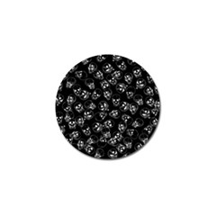 A Lot Of Skulls Black Golf Ball Marker by jumpercat