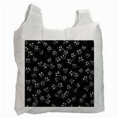 A Lot Of Skulls Black Recycle Bag (one Side)