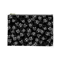 A Lot Of Skulls Black Cosmetic Bag (large)